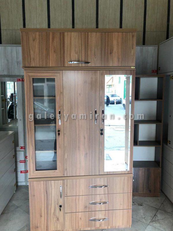 کمد چوبی سفارش مشتری عرض۱۲۰ ارتفاع ۲۴۰ دارای رنگ بندی